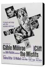 The Misfits - 27 x 40 Movie Poster - Style C - Museum Wrapped Canvas