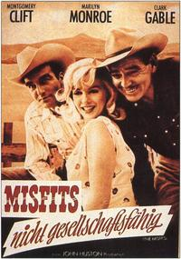 The Misfits - 11 x 17 Movie Poster - German Style A