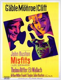 The Misfits - 11 x 17 Movie Poster - French Style A