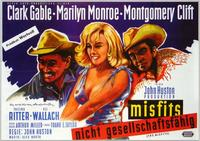 The Misfits - 11 x 17 Movie Poster - German Style B