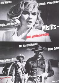 The Misfits - 11 x 17 Movie Poster - German Style C