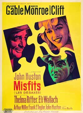The Misfits - 11 x 17 Movie Poster - French Style C