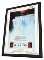The Mission - 27 x 40 Movie Poster - Style A - in Deluxe Wood Frame