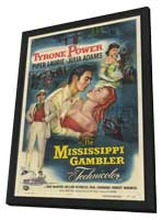 The Mississippi Gambler - 27 x 40 Movie Poster - Style A - in Deluxe Wood Frame