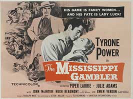 The Mississippi Gambler - 11 x 14 Movie Poster - Style B