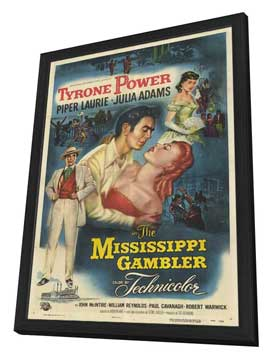 The Mississippi Gambler - 11 x 17 Movie Poster - Style A - in Deluxe Wood Frame