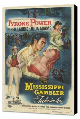 The Mississippi Gambler - 11 x 17 Movie Poster - Style A - Museum Wrapped Canvas