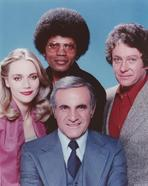 The Mod Squad - Mod Squad Posed in Group Picture with Blue Background