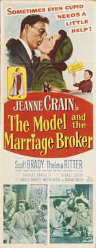 The Model and the Marriage Broker - 14 x 36 Movie Poster - Insert Style A