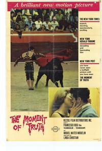 The Moment of Truth - 27 x 40 Movie Poster - Style A