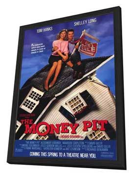 The Money Pit - 27 x 40 Movie Poster - Style A - in Deluxe Wood Frame