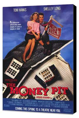 The Money Pit - 27 x 40 Movie Poster - Style A - Museum Wrapped Canvas