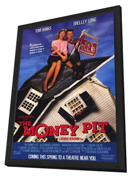 The Money Pit - 11 x 17 Movie Poster - Style A - in Deluxe Wood Frame
