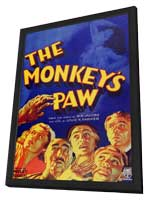 The Monkeys Paw - 11 x 17 Movie Poster - Style A - in Deluxe Wood Frame