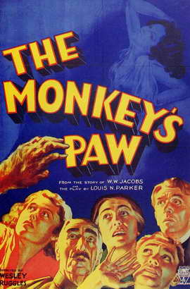The Monkeys Paw - 11 x 17 Movie Poster - Style A