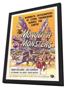 The Monolith Monsters - 11 x 17 Movie Poster - Style A - in Deluxe Wood Frame