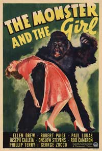 The Monster and the Girl - 11 x 17 Movie Poster - Style A