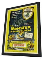 The Monster of Piedras Blancas - 11 x 17 Movie Poster - Style A - in Deluxe Wood Frame