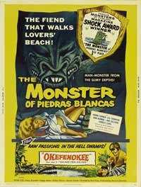 The Monster of Piedras Blancas - 11 x 17 Movie Poster - Style A