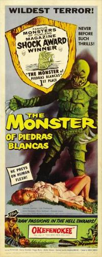 The Monster of Piedras Blancas - 14 x 36 Movie Poster - Insert Style A