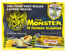 The Monster of Piedras Blancas - 30 x 40 Movie Poster UK - Style A