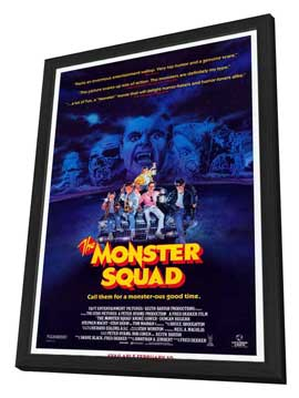 The Monster Squad - 11 x 17 Movie Poster - Style A - in Deluxe Wood Frame