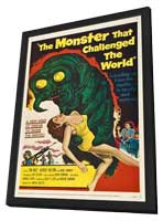The Monster That Challenged the World - 27 x 40 Movie Poster - Style B - in Deluxe Wood Frame