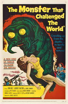 The Monster That Challenged the World - 11 x 17 Movie Poster - Style B
