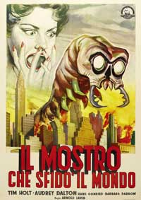 The Monster That Challenged the World - 11 x 17 Movie Poster - Italian Style A