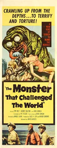 The Monster That Challenged the World - 14 x 36 Movie Poster - Insert Style A