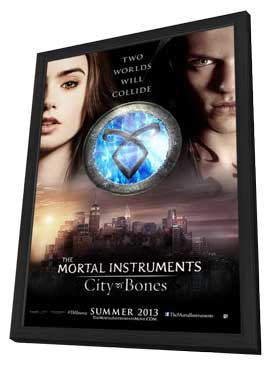 The Mortal Instruments: City of Bones - 27 x 40 Movie Poster - Style B - in Deluxe Wood Frame
