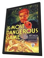 The Most Dangerous Game - 11 x 17 Movie Poster - Style C - in Deluxe Wood Frame