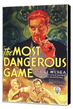 The Most Dangerous Game - 11 x 17 Movie Poster - Style C - Museum Wrapped Canvas