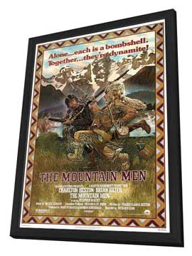 The Mountain Men - 27 x 40 Movie Poster - Style A - in Deluxe Wood Frame