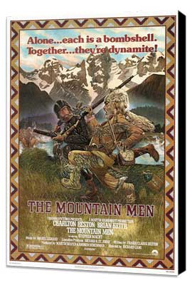 The Mountain Men - 27 x 40 Movie Poster - Style A - Museum Wrapped Canvas