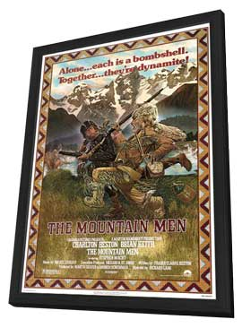 The Mountain Men - 11 x 17 Movie Poster - Style A - in Deluxe Wood Frame