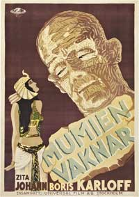 The Mummy - 11 x 17 Movie Poster - Swedish Style A