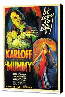 The Mummy - 11 x 17 Movie Poster - Style A - Museum Wrapped Canvas