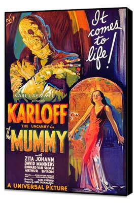 The Mummy - 27 x 40 Movie Poster - Style A - Museum Wrapped Canvas