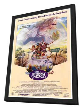 The Muppet Movie - 27 x 40 Movie Poster - Style C - in Deluxe Wood Frame