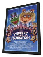 The Muppets Take Manhattan - 11 x 17 Movie Poster - Style A - in Deluxe Wood Frame