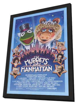 The Muppets Take Manhattan - 27 x 40 Movie Poster - Style A - in Deluxe Wood Frame