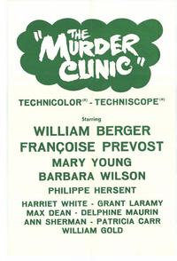 The Murder Clinic - 27 x 40 Movie Poster - Style A