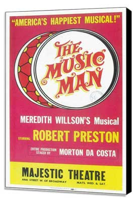 the Music Man (Broadway) - 11 x 17 Poster - Style B - Museum Wrapped Canvas
