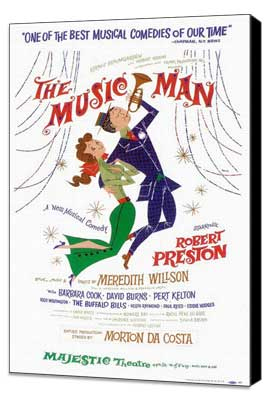 the Music Man (Broadway) - 14 x 22 Poster - Style A - Museum Wrapped Canvas