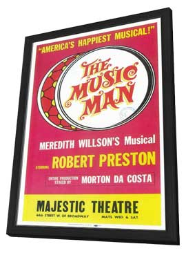 the Music Man (Broadway) - 11 x 17 Poster - Style B - in Deluxe Wood Frame