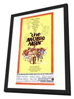 The Music Man - 27 x 40 Movie Poster - Style A - in Deluxe Wood Frame