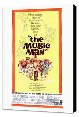 The Music Man - 11 x 17 Movie Poster - Style A - Museum Wrapped Canvas
