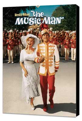 The Music Man - 11 x 17 Movie Poster - Style D - Museum Wrapped Canvas