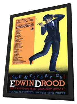 The Mystery of Edwin Drood (Broadway) - 11 x 17 Poster - Style A - in Deluxe Wood Frame